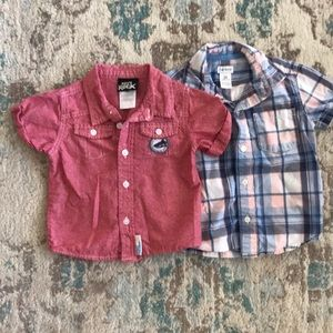 Carter's & Boys Rock short sleeve button ups